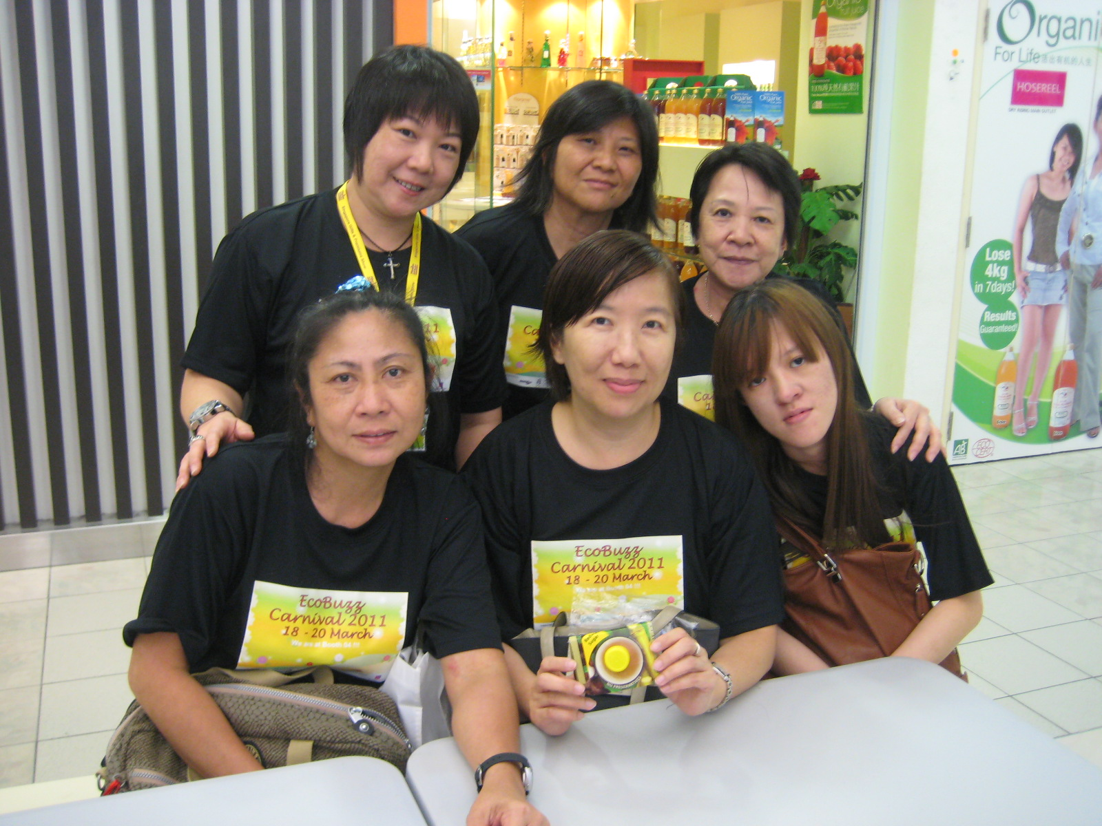 Women from Whispering Hearts at Century Square